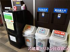 冷蔵庫・リネン回収BOX