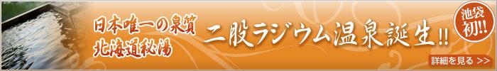 日本唯一の泉質北海道秘湯 二股ラジウム温泉誕生!!